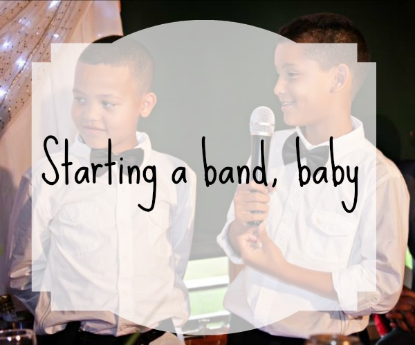 Starting a band baby