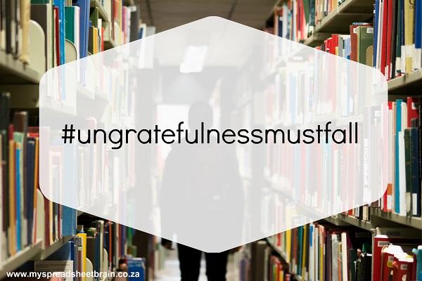 #ungratefulness