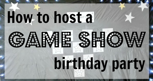 game show birthday party