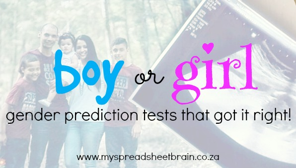 Fun baby gender prediction tests