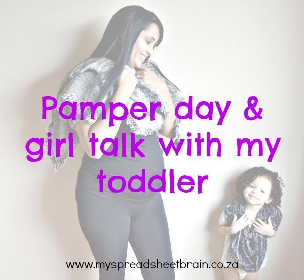 pamper day conversations