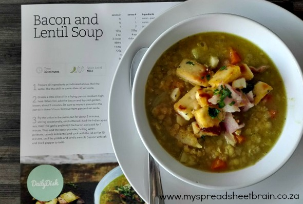 bacon and lentil daily dish for you